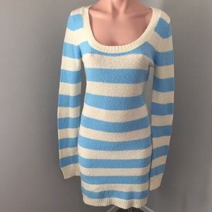 3 for $15! Blue and Cream Stripped Sweater Dress M